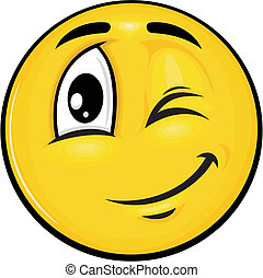 smiley 07 - vector cartoon yellow smiley with funny...