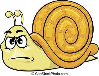 cartoon snail 01 - vector cartoon snail with funny...