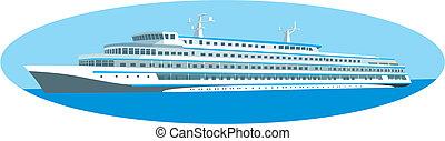 Cruise ship - The large cruise ship sign