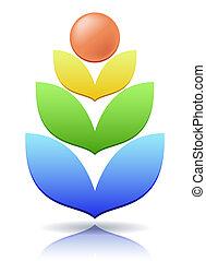 Ear of wheat as a concept logo.