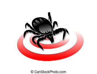 ticks - warning of ticks and risk of meningitis