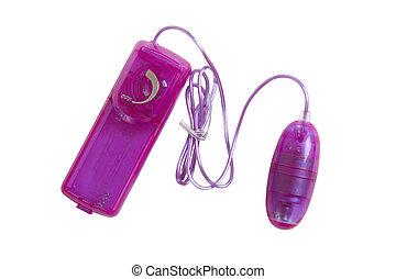 Sex toy purple vibrator egg on white - Purple vibrator egg...