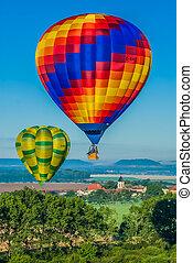 Mondial hot Air Ballon reunion in Lorraine France -...