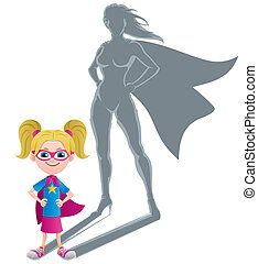 Girl Superheroine Concept - Conceptual illustration of...