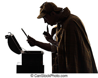 sherlock holmes and the open safe silhouette - sherlock...