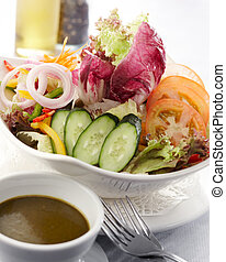 salad - delicious and healthy bowl of salad, shallow depth...