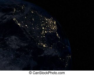North America at night 4K - North America at night Extremely...
