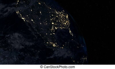 North America at night. Extremely detailed image, including...