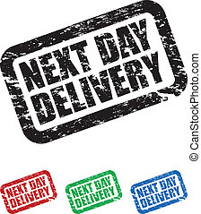 next day delivery - set of next day delivery stamps