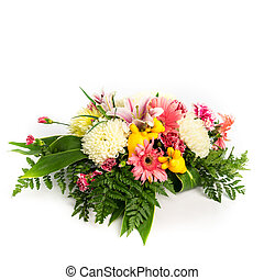 bunch flowers - Bunch flowers on isolated white background