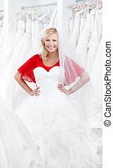 Searching for a wedding gown on