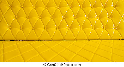 tapisserie ameublement, cuir,  Sofa, jaune, fond, modèle