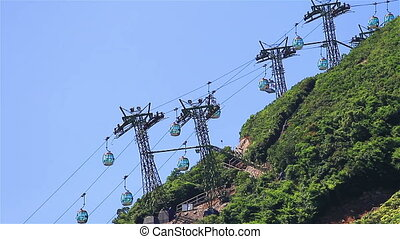 Cable car - Transportation by cable car.