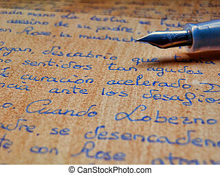 Old letter written with pen