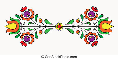Hungarian folk motif - Symmetrical motif inspired by...