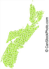 Isolated map of Nova Scotia - Decorative map of Nova Scotia...