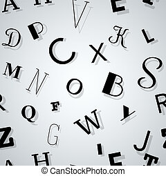 Typography Seamless Background - Typography Pattern of...