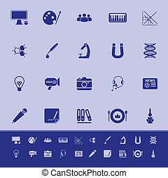 General learning color icons on blue background