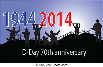anniversary of D-Day in Normandy