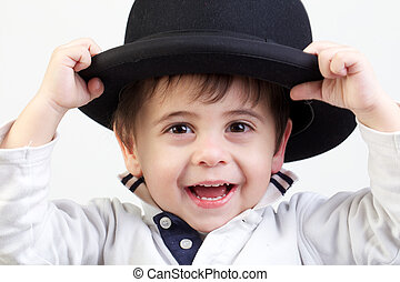 little child with bowler