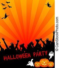 Halloween Party Placard