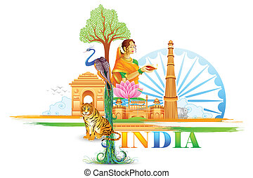 India Wallpaper - vector illustration of India Wallpaper