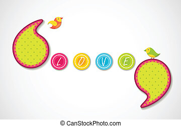 Love Background - vector illustration of birds in love...