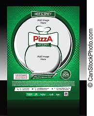Pizza Store Flyer Template Vector illustration