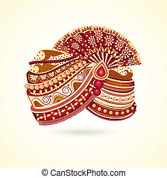 Indian Turabn - vector illustration of colorful Indian...