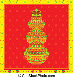 Mangal Kalash - vector illustration of decorated mangal...