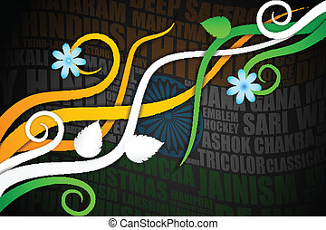 Abstract Indian Background - vector illustration of abstract...