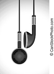 Vector Earphone - vector illustration of pair of earphone...
