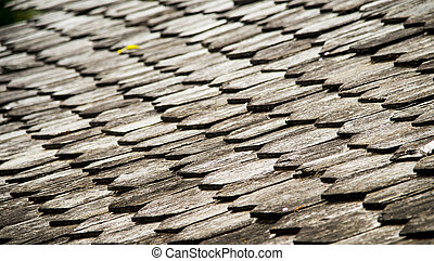 Wooden roof pattern