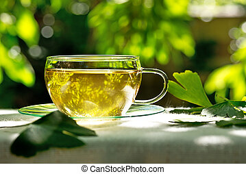 tea with herbaceous plant