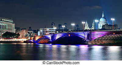 London - Blackfriars Bridge and St Pauls Cathedral in London...