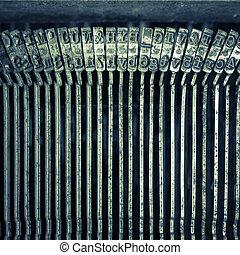 Old text typing typewriter letter typebar