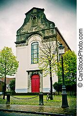 old church in Bruges, Belgium