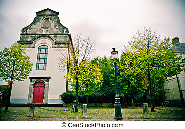 old church in Bruges, Belgium