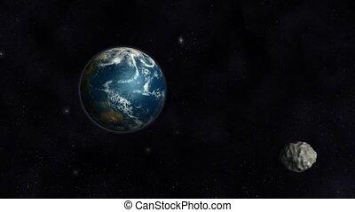 Asteroid Collision Animation