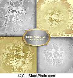 gold and silver texture