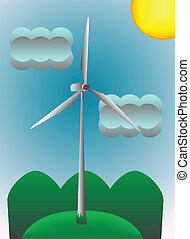 Energy - Wind energy illustration