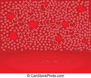 Abstract Vector Heart for Valentines Day Background - Design...