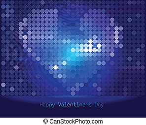 Abstract Vector Heart for Valentines Day Background - Vector...