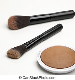 Face Powder kit isolated on a white background