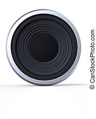 Loudspeaker with  shadow on white background
