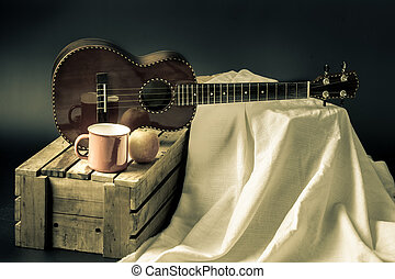 Classic ukulele - Still life, classic ukulele on stand