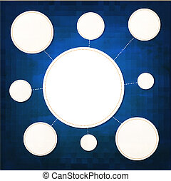 Paper Speech Bubbles With Blue Background
