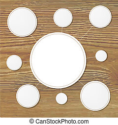 Paper Speech Bubbles With Wooden Background