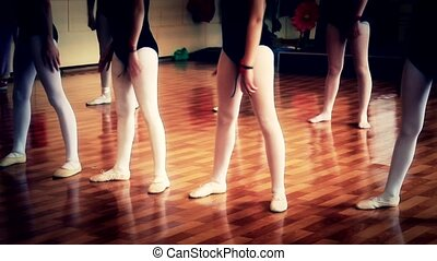 modern ballet - modern ballet little girls exercise held