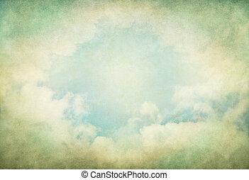 Green Vintage Clouds